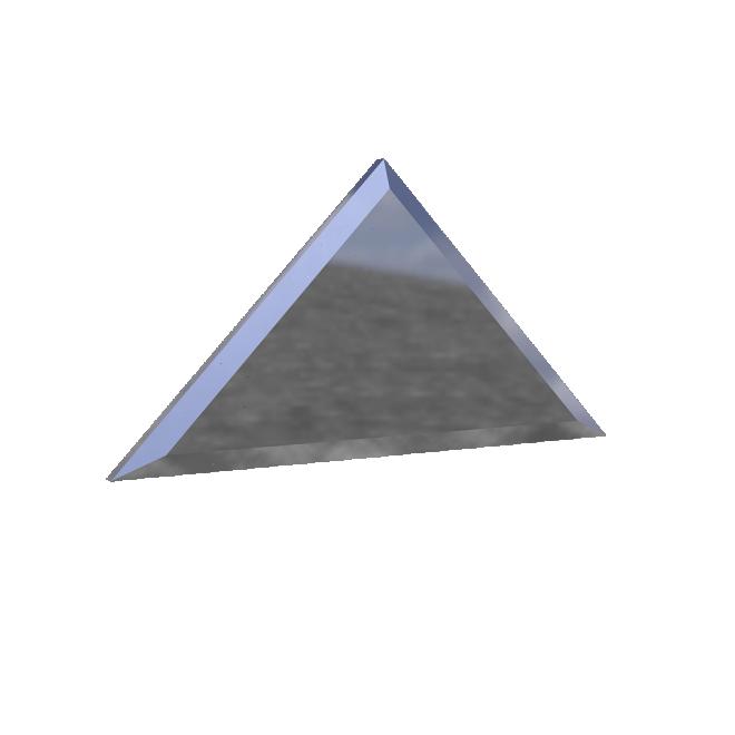 зеркальная плитка треугольник